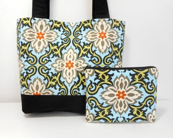 Temple Garland Medium Tote Bag Set, Purse and Coin Purse Temple Garden