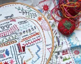 Original Dropcloth Embroidery Sampler