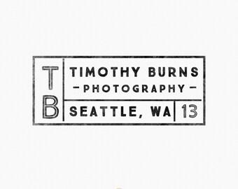 Premade Logo Design - Vintage Label Photography Logo - Simple Logo - Hipster Logo - Photographer Branding - Label Design  - Badge Logo