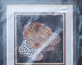Cross My Heart Cross Stitch Kit Leopard