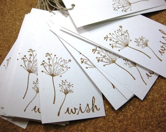 Wish Tree Tags Eco - Friendly Recycled Archival Quality Card Stock