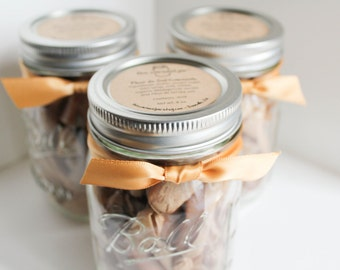Gifts Under 20 - Fleur de Sel Caramels - Set of (3) Half Pound Jars of Caramels