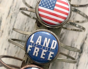 Fourth of July, 4th of July Jewelry, 4th of July Bracelet, American, Land of the Free, USA, Jewelry, Bracelet,