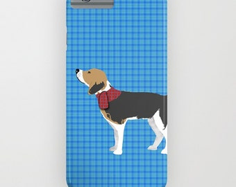 Beagle Dog on Blue Phone Case -  iPhone 6S, iPhone 6 Plus, Gifts for Dog Lovers,  Samsung Galaxy S7, Beagle Gifts , iPhone 8