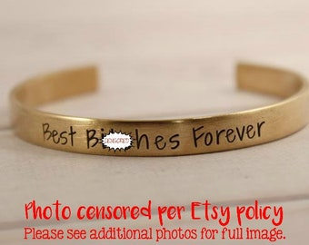 Best B*tches Forever Cuff Bracelet - READY TO SHIP Sample
