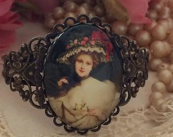 Cameo Bracelet, Victorian Cameo Bracelet, Cuff Bracelets, Cameo Cuff, Antique Gold, Vintage Reproduction, Victorian Lady Jewelry, Bracelets