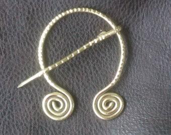 Brass Fibula Brooch, Penannular