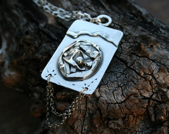 One Of a Kind Handcrafted Pendant , Silver Pendant , Silver Necklace , 925 Sterling Silver Pendant, Sterling Pendant,