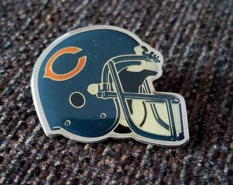 Vintage Chicago Bears Helmet Pin Starline Free Shipping
