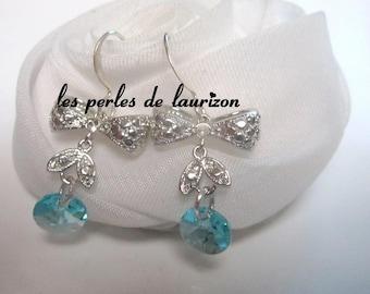 Blue Crystal Teardrop Earrings