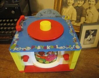 Playskool Music Box Record Player TV. Nursery Display Vintage Playskool Turntable. Display Record Player only