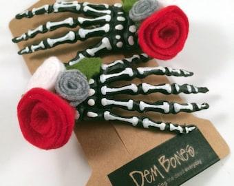 Jack Skellington // Skelly Hair Clip // Gothic Valentine // Gothic Lolita, Nightmare Before Christmas Gothic Valentine Gift