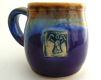 Handmade pottery mug pottery and ceramics Little Angel Purple