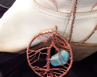 Copper Tree of Life Necklace