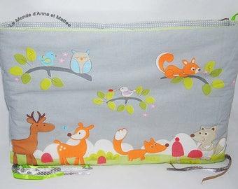 """""""Forest animals"""" baby bumper"""