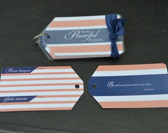 Refill for Prayer Cards - Coral Stripe