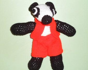 BERTIE BADGER the CROCHET badger.