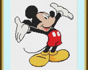 Mickey Mouse cross stitch pattern Disney Cross Stitch disney cartoon Mickey Mouse pattern Mickey Mouse lover gift disney cross stitch baby