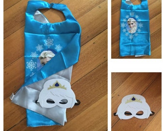 Kids Frozen Cape & Mask Set