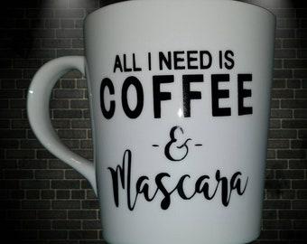 Coffee and Mascara mug