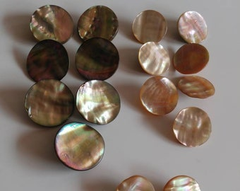Vintage lot abalone mother of pearl buttons