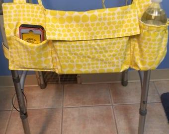 Walker Tote Bag, Walker Caddy, Walker Bag, Walker Purse, Gift for Grandparents, Nursing Home Gift, Gift for Elderly, Yellow Bag, Grandma Bag