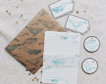 Whales Letter Writing Set