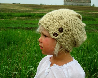 KNITTING PATTERN PDF Slouch Hat for baby, child, and adult - Knit pattern slouch hat - Baby slouch hat - Adult slouch hat - Knit slouch hat
