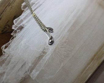 silver note necklace