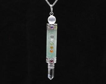 Green Aventurine Chakra Pendant Necklace Yoga Meditation jewelry