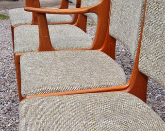 SOLD XXXXX    MCM Danish dining chairs Mobler Anderson