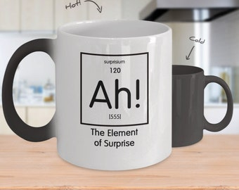 Color Changing Mug - The Element of Surprise - Scientist Gift for Science Geek - Science Teacher Gift - Science Student Gift