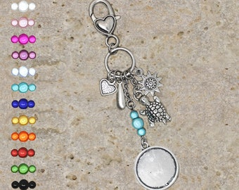 support cabochon 20 mm turtle bag charm