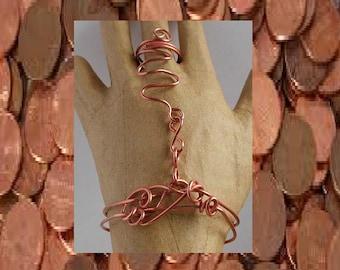 Copper wire slave bracelet