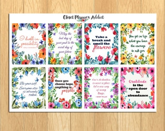 Motivational & Inspirational Quotes Planner Stickers (MS-006)