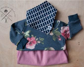 Baby bandana bib - navy blue