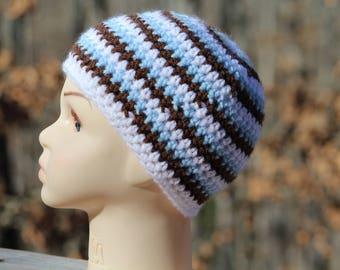 Crochet baby boy hat, Newborn preemie hat, Twins baby hats, valentines photo prop,  infant hat, Crochet photo prop, Boy hat