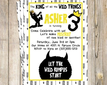 Where the Wild Things Are - Custom Invitation