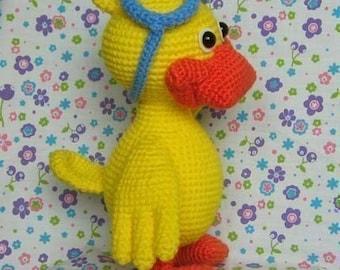YABBA the duck 12.5 inches - PDF crochet pattern