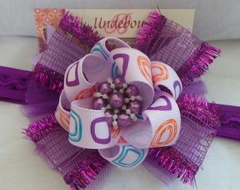 Dressy Purple Headband - Purple Baby Headband - Purple Headband
