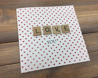 Love you Card, valentines day card