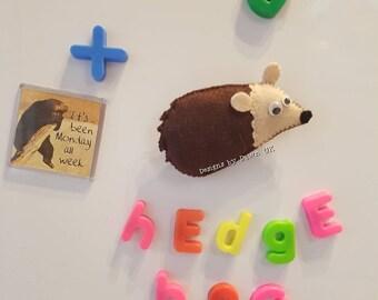 Cute handmade felt HEDGEHOG fridge magnet