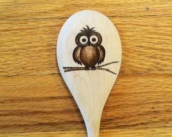 Owl Wooden Spoon