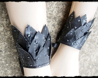 1 Pair of Dragon Scale Armour Wrist Cuffs -  Ready to Ship - Cosplay Warrior Khaleesi Huntress Bracers LARP