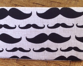 Mustache Check Book Cover