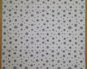 8.5x11 Snowflake Pattern Paper