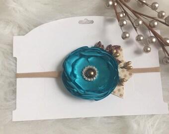 Singed Flower   Baby Headband   Newborn Headband   Baby Shower Gift