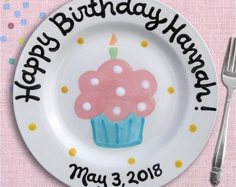 Kids Birthday Party - First Birthday - 1st Birthday - 2nd Birthday - Birthday Plate - Personalized - Birthday Girl - Personalized Ceramic
