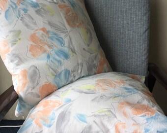 90s Coastal Floral Light White 18x18inch 45x45cm Cushion Throw Cover