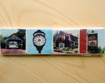 Long Grove Series - Set of 4 - Two inch magnets
